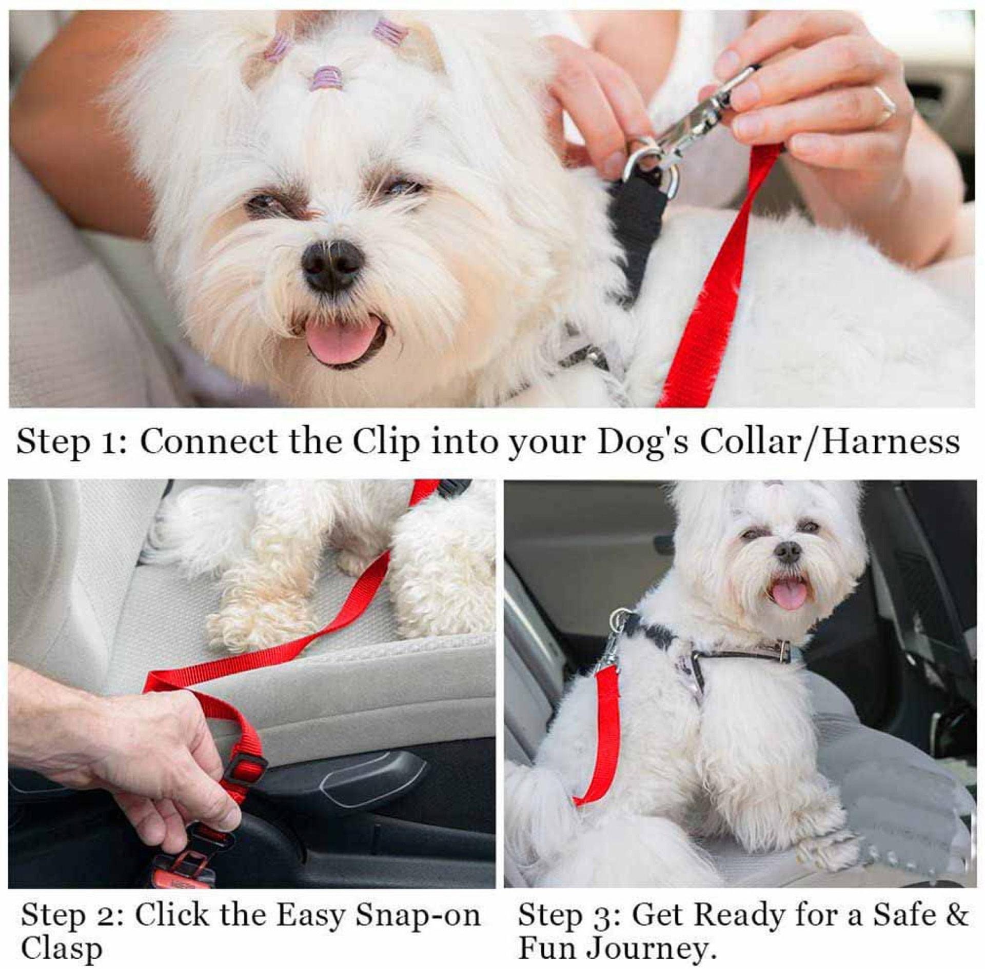 Adjustable Pet Dog Cat Car Seat Belt Nylon Small Medium Large Dogs Traction Rope Travel Detachable Pet Supplies Collar Leash