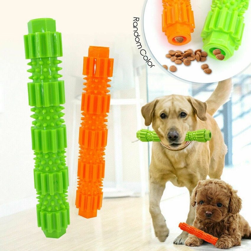 Pet Dog Chew Toy For Aggressive Chewers Treat Dispensing Rubber Teeth Cleaning Toy Squeaking Rubber Dog Toy