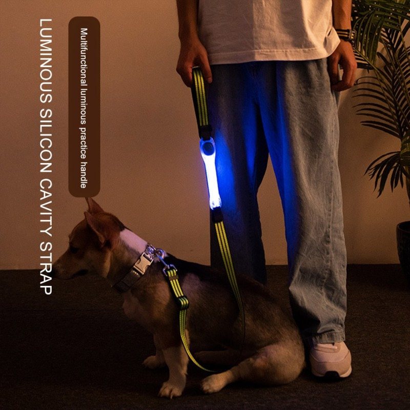 panDaDa Luminous Dog Collar Led Collar Avoid accidents Multifunction Pet Dogs Puppy Accessories For Small Large Dog Supplies