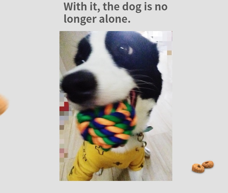 Random Color Dog Rope Toy for Dog Rope Ball Chew Toys Teeth Cleaning Pet Toy for Small Medium Dogs Pet Products